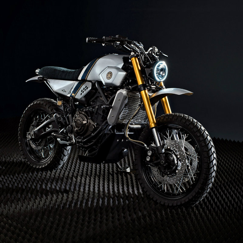 Weve Seen The Yard Built Super 7 By JvB Moto Well Bunker Custom Motorcycles Also Had Chance To Take A Crack At XSR700 And They Have Recently